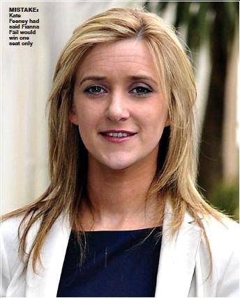??  ?? mistake: Kate Feeney had said Fianna Fáil would win one seat only