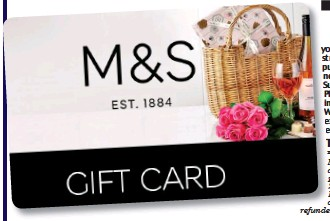 FREE* £5 M&S GIFT CARD FOR EVERY READER
