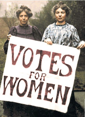 ??  ?? A recently colourised photograph of Annie Kenney, left, and Christabel Pankhurst, key members of the Women's Social and Political Union, which was instrumental in winning voting rights for some women 100 years ago today