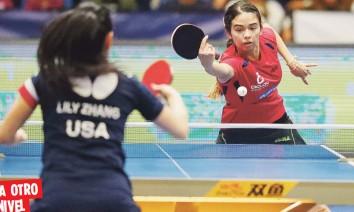 ?? Archivo ?? Durante las últimas semanas en China, Melanie Díaz ha podido entrenar con el Club de Chengdu y con la selección provincial de Sichuan.