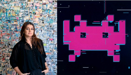 ??  ?? This page, from left: Leila Khan; Right: Azad Danial's Space Invader