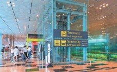 ?? GETTY IMAGES ?? Singapore's Changi Airport earns rave reviews from frequent travelers for its amenities and ease of navigation.