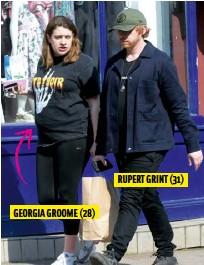 ??  ?? GEORGIA GROOME (28) RUPERT GRINT (31)