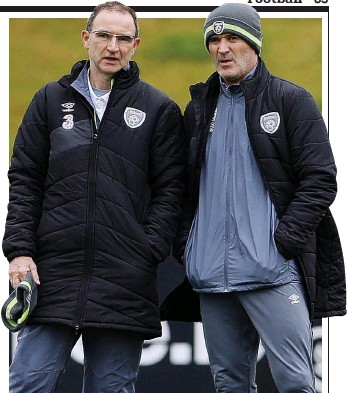 ?? ACTION IMAGES ?? Talking tactics: O'Neill and his assistant Roy Keane (right) yesterday