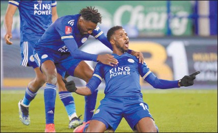 ?? Photo: Eurosport ?? On target… Kelechi Iheanacho scored his 15th goal of the season as Leicester City defeated Southampto­n 1-0 in the FA Cup semi-final on Sunday.
