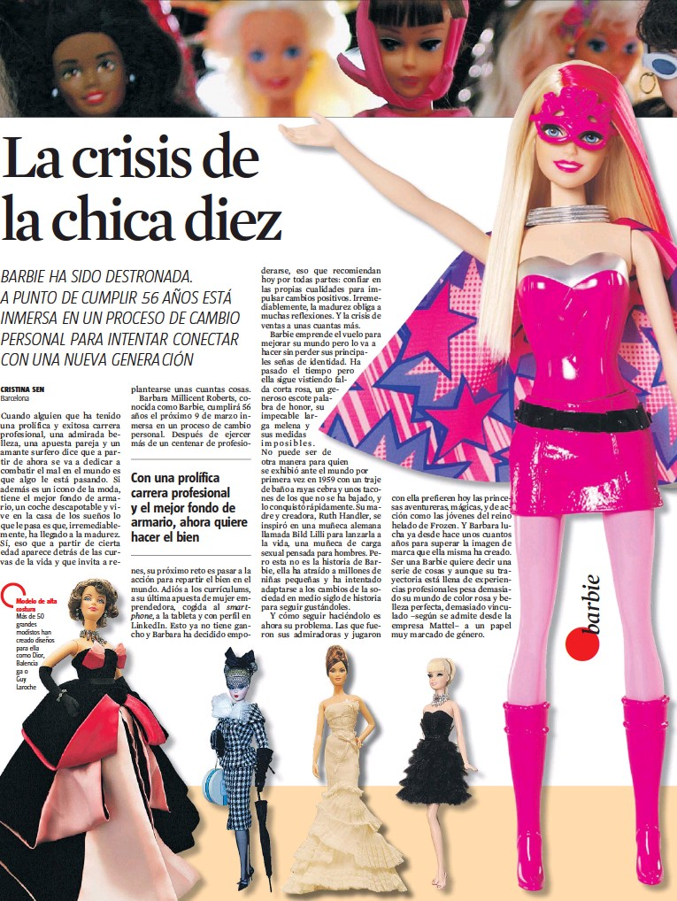 ??  ?? Modelo de alta costura Más de 50 grandes modistos han creado diseños para ella como Dior, Balencia ga o Guy Laroche