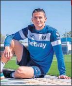 ??  ?? Sergi Palencia con el Leganés..