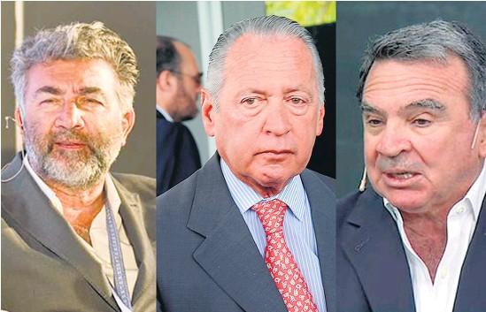 ??  ?? Karagozian, Funes de Rioja y Madanes, tres los presentes en la reunión con el Gobierno.