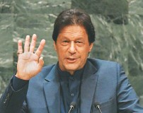 ?? TIMOTHY A. CLARY/AGENCE FRANCE-PRESSE/GETTY IMAGES ?? Pakistani Prime Minister Imran Khan