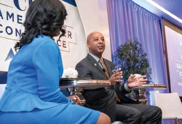 ??  ?? Lowe's CEO Marvin Ellison was a featured speaker at the 2019 ELC GameChanger Conference in D.C.