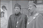 """?? Quantrell D. Colbert/paramount Pictures via AP ?? Arsenio Hall, left, and Eddie Murphy appear in a scene from """"Coming 2 America."""""""