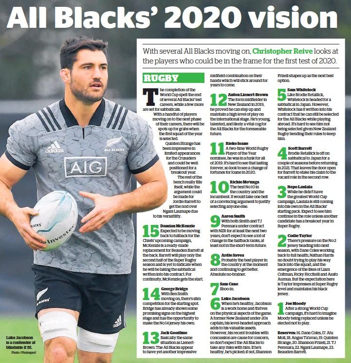 Pressreader Herald On Sunday 2019 11 10 All Blacks 2020