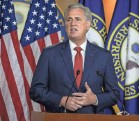 ?? TASOS KATOPODIS/GETTY IMAGES ?? House GOP leader Kevin McCarthy has suggested steps other than impeachment, including a resolution of censure.
