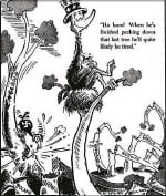 ??  ?? Sitting it out A cartoon from May 1941 mocks American isolationists, who opposed going to war with Nazi Germany. Trump's world view is very much defined by nationalism rather than internationalism