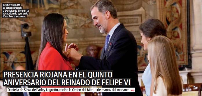 PRESENCIA RIOJANA EN EL QUINTO ANIVERSARIO DEL REINADO DE FELIPE VI