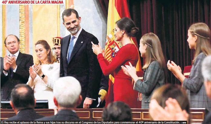 EL REY DEFIENDE LA VIGENCIA DE LA CONSTITUCIÓN AUNQUE «ESPAÑA NO ES LA DE HACE 40 AÑOS»