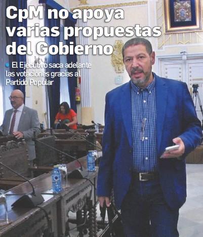 CPM NO APOYA VARIAS PROPUESTAS DEL GOBIERNO
