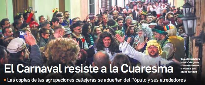 EL CARNAVAL RESISTE A LA CUARESMA