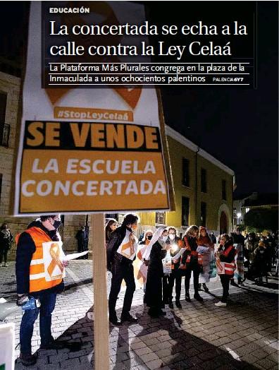 LA CONCERTADA SE ECHA A LA CALLE CONTRA LA LEY CELAÁ