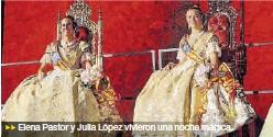 IMPOSICIÓN DE BANDAS FALLERAS A ELENA Y JULIA