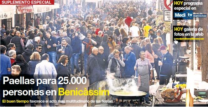 PAELLAS PARA 25.000 PERSONAS EN BENICÀSSIM