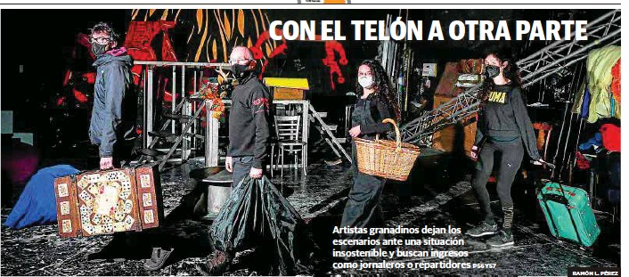 CON EL TELÓN A OTRA PARTE