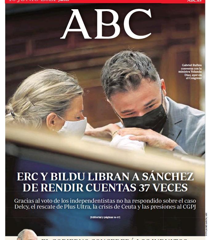 ERC Y BILDU LIBRAN A SÁNCHEZ DE RENDIR CUENTAS 37 VECES