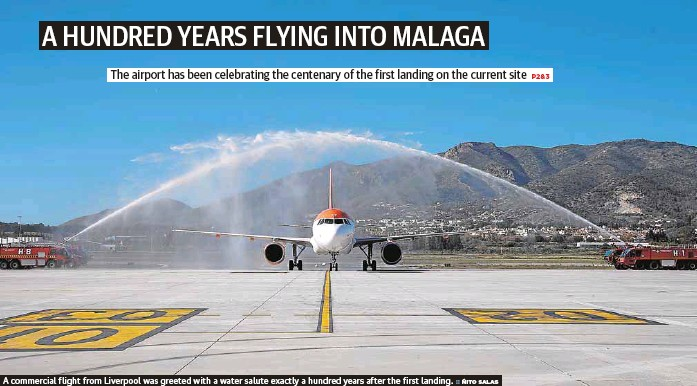 A HUNDRED YEARS FLYING INTO MALAGA