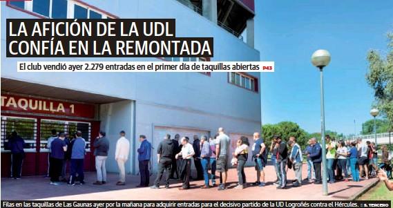 LA AFICIÓN DE LA UDL CONFÍA EN LA REMONTADA
