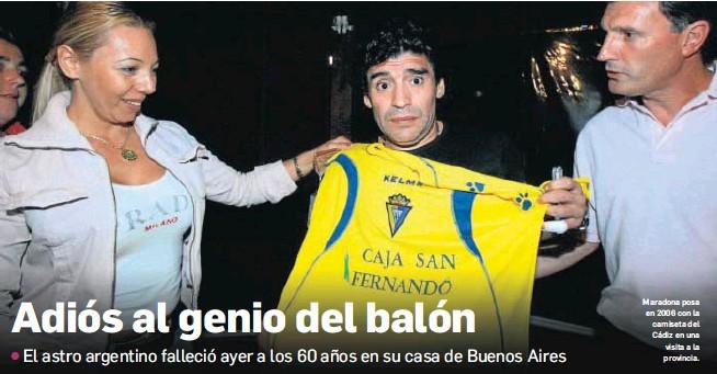 ADIÓS AL GENIO DEL BALÓN