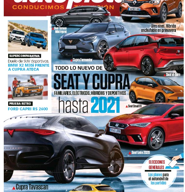 SEAT Y CUPRA FAMILIARES, ELÉCTRICOS, HÍBRIDOS Y DEPORTIVOS HASTA 2021
