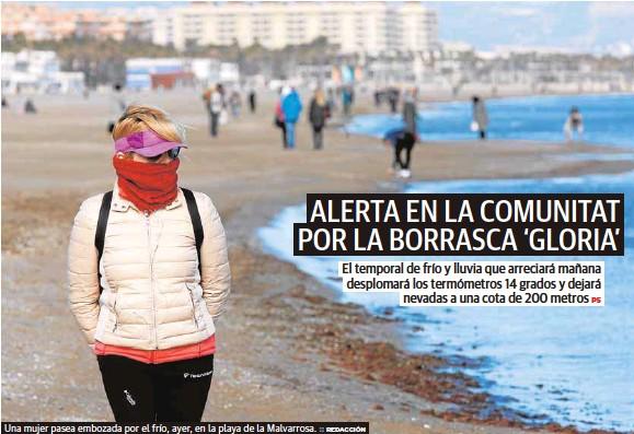 ALERTA EN LA COMUNITAT POR LA BORRASCA 'GLORIA'