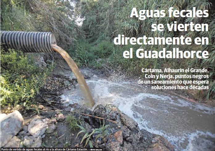 AGUAS FECALES SE VIERTEN DIRECTAMENTE EN EL GUADALHORCE