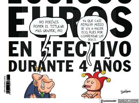 JUAN CARLOS SACÓ MENSUALMENTE 100.000 EUROS EN EFECTIVO DURANTE 4 AÑOS
