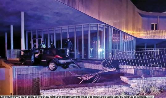 ESPECTACULAR ACCIDENTE EN EL CAMPUS LUCENSE