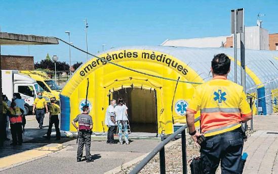 LOS INGRESOS HOSPITALARIOS A CAUSA DE LA COVID-19 SE TRIPLICAN EN LLEIDA