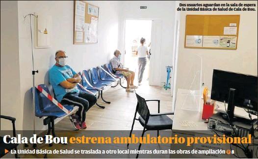 CALA DE BOU ESTRENA AMBULATORIO PROVISIONAL