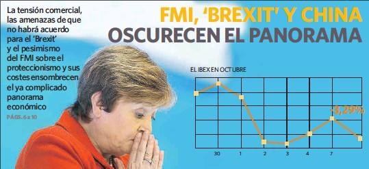 FMI, 'BREXIT' Y CHINA OSCURECEN EL PANORAMA
