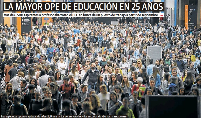 LA MAYOR OPE DE EDUCACIÓN EN 25 AÑOS