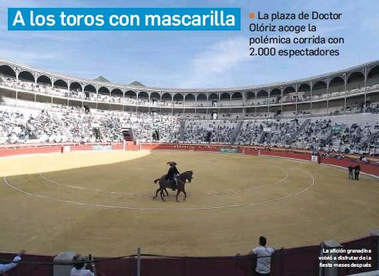 A LOS TOROS CON MASCARILLA