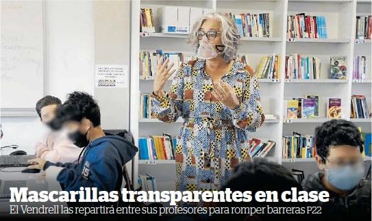 MASCARILLAS TRANSPARENTES EN CLASE