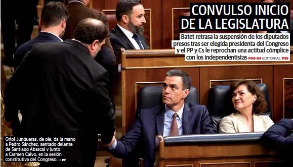 CONVULSO INICIO DE LA LEGISLATURA