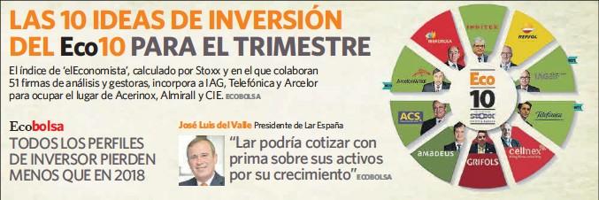 LAS 10 IDEAS DE INVERSIÓN DEL ECO10 PARA EL TRIMESTRE