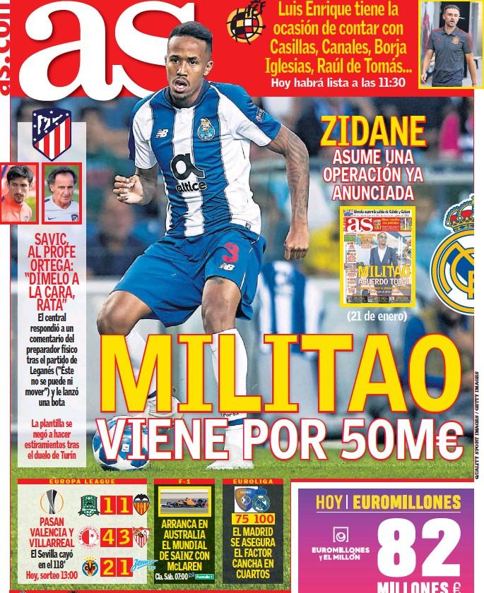 MILITAO VIENE POR 50M€