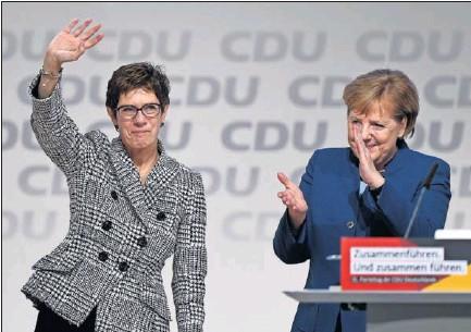 LA CANDIDATA DE MERKEL PRESIDIRÁ LA CDU.