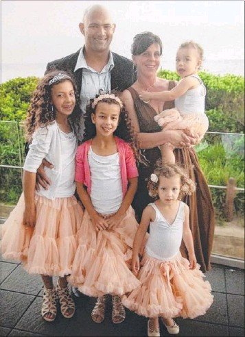 Sen-Constable Christopher Plummer with his wife, Juliet, and four daughters before his illness.