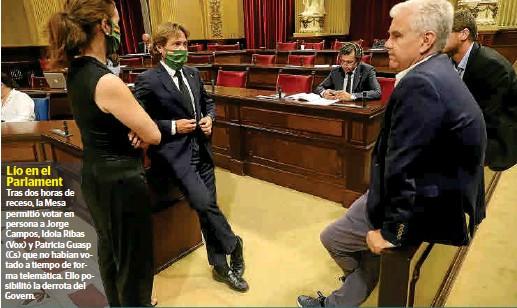 REVÉS POLÍTICO PARA EL GOVERN
