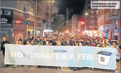 PROTESTA PER LA PRESÓ PER A QUATRE DETINGUTS DIVENDRES