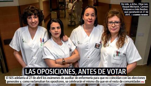 LAS OPOSICIONES, ANTES DE VOTAR
