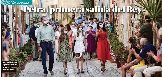 EL MONARCA LOA LA FIGURA DE FRAY JUNÍPERO SERRA TRAS UN RECORRIDO QUE LA INFANTA SOFÍA HIZO CON UNA MULETA